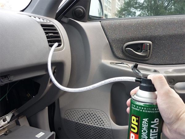 Очистка кондиционера в автомобиле