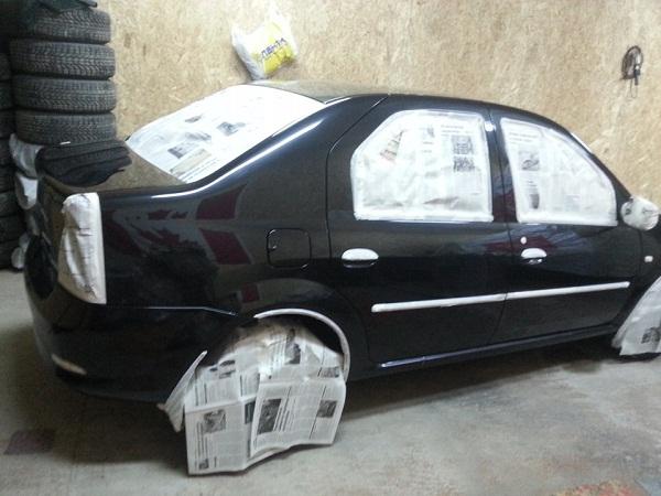 Подготовка кузова автомобиля к покрытию жидкой резиной