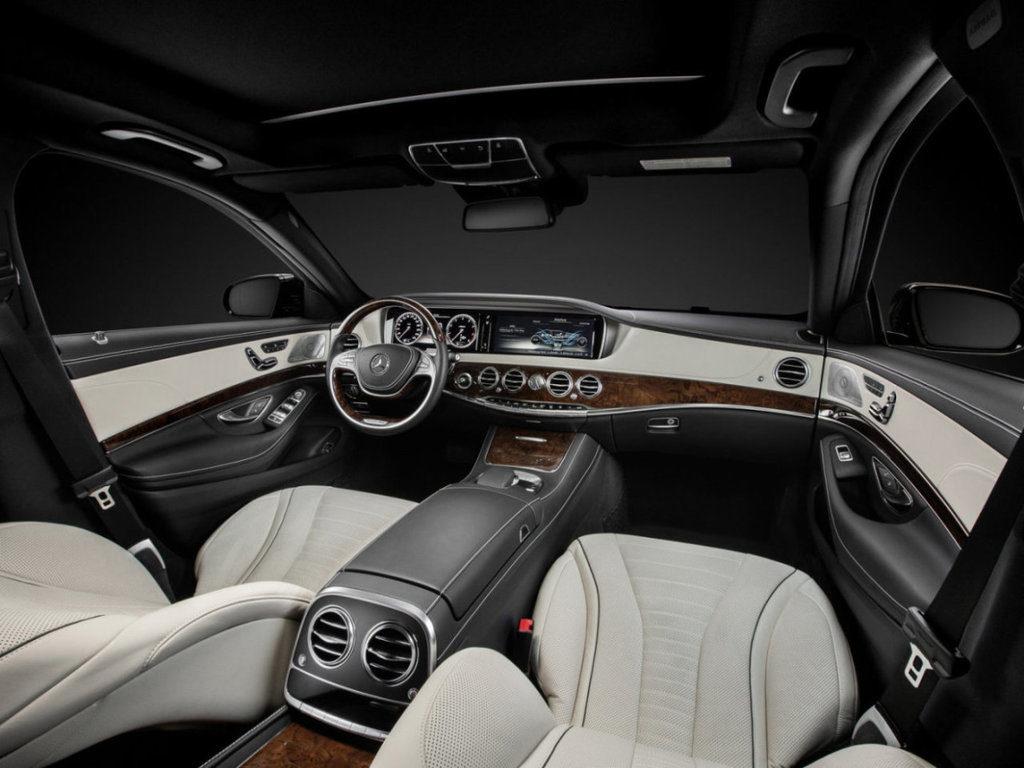 Mercedes Benz S класс интерьер