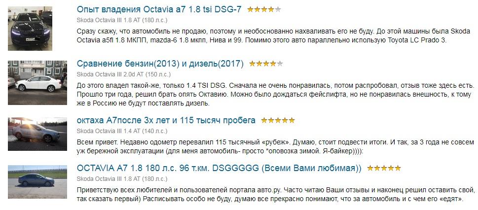 Skoda Octavia a7 отзывы владельцев