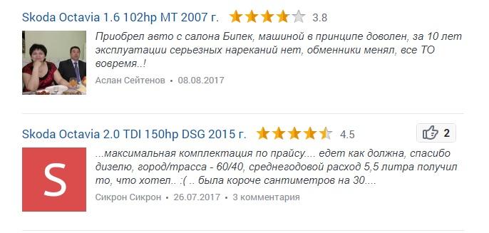 Skoda Octavia a7 отзыв