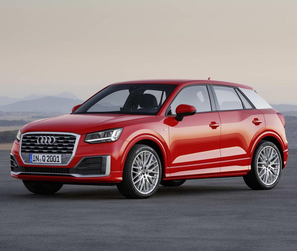 Audi Q2 2017 силуэт