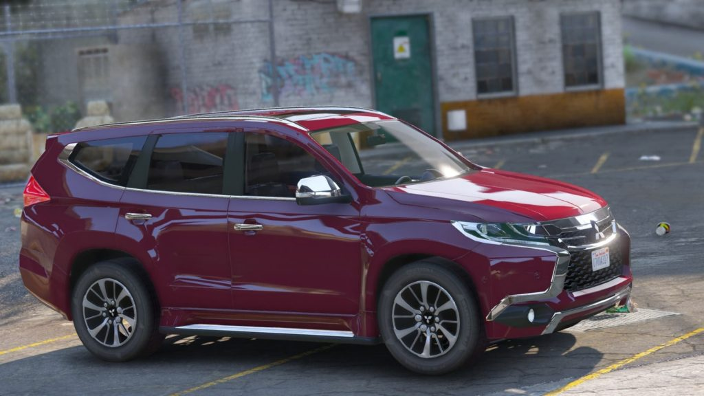 Mitsubishi Pajero Sport 2017 силуэт