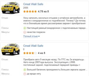 Great Wall Safe отзывы владельцев