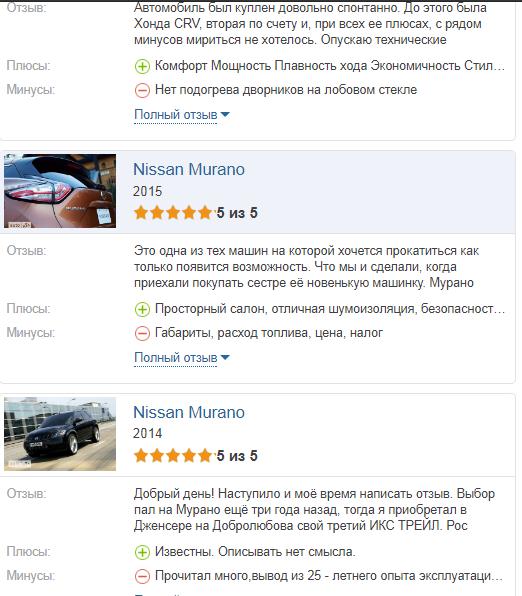 Nissan Murano отзыв