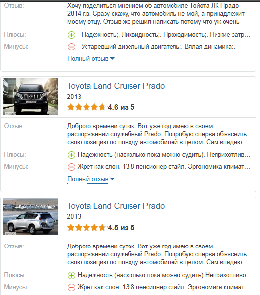 Toyota Land Cruiser Prado отзыв