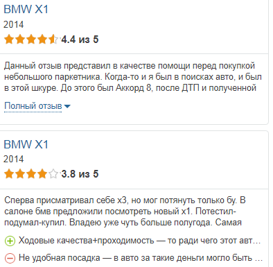 БМВ Х1 отзывы