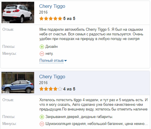 Chery Tiggo 5 отзывы