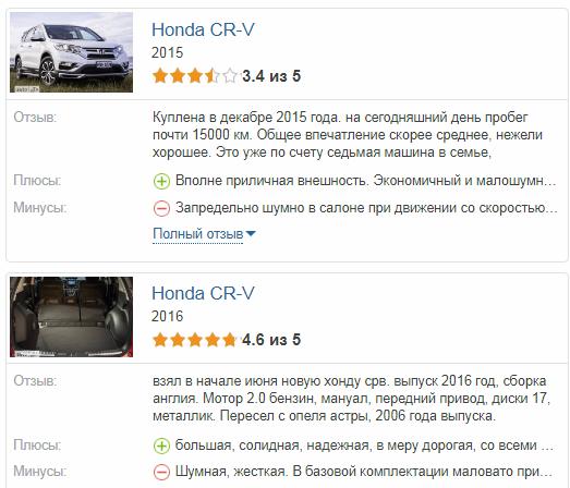 Хонда СРВ отзывы