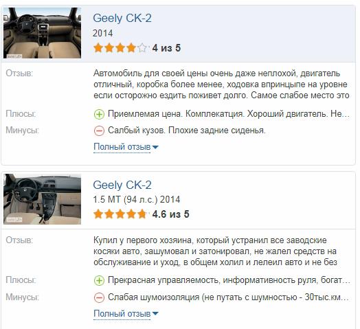 Geely CK 2 отзывы владельцев