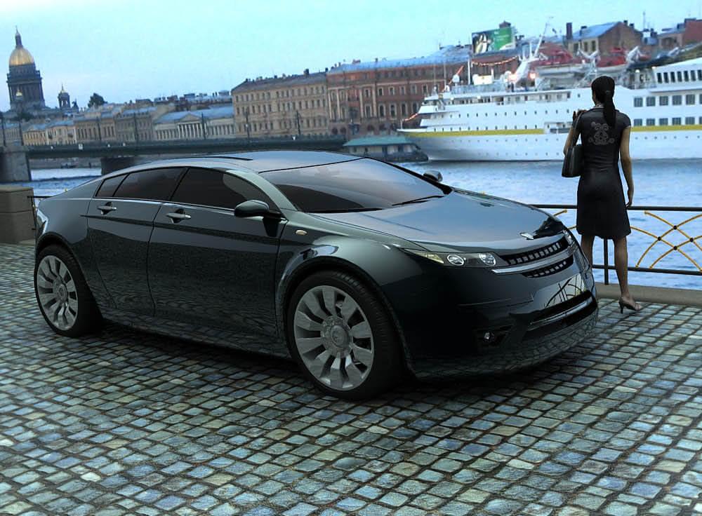 Новая Волга вид спереди