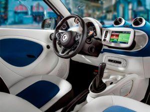 Кожаный руль и приборная панель