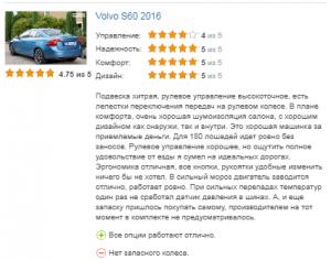 отзывов о Volvo S60