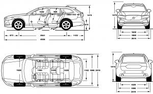 размеры Volvo v90