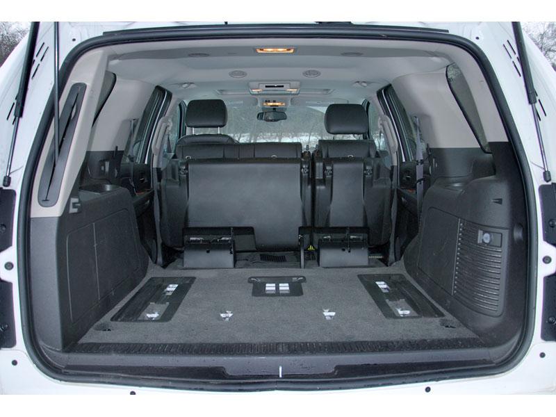 chevrolet tahoe объем багажника