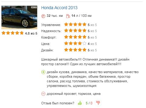 хонда аккорд отзыв 2