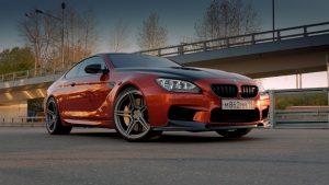 BMW M6 F13. красный