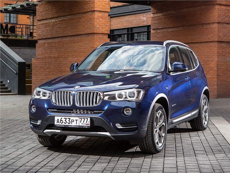 BMW X3 спереди