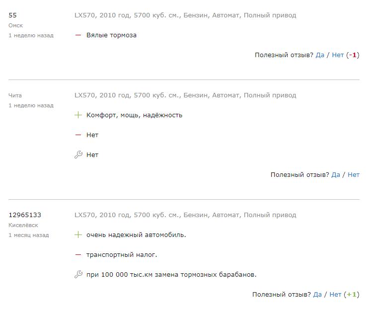 5 копеек о Lexus LX570