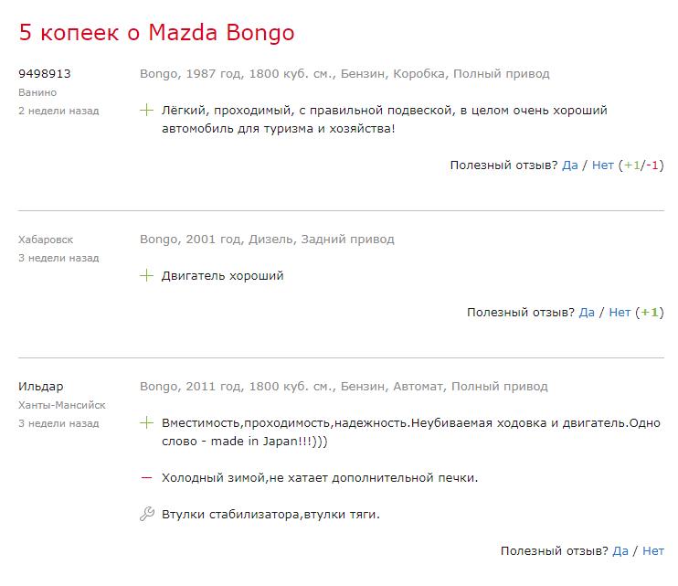 5 копеек о Mazda Bongo
