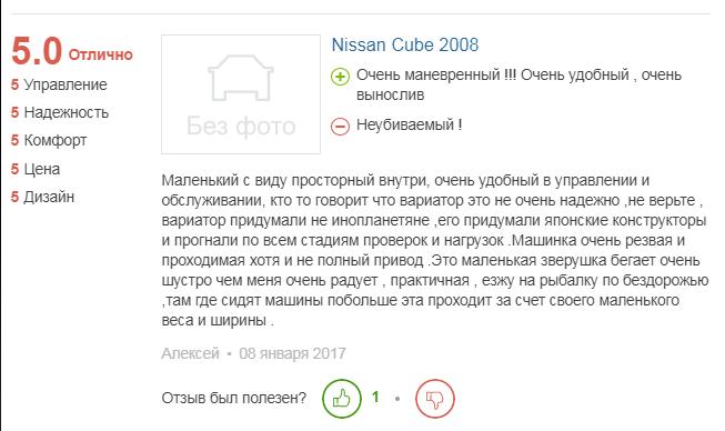 о Nissan Cube