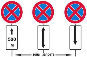 Какие знаки запрещают остановку и стоянку автомобиля